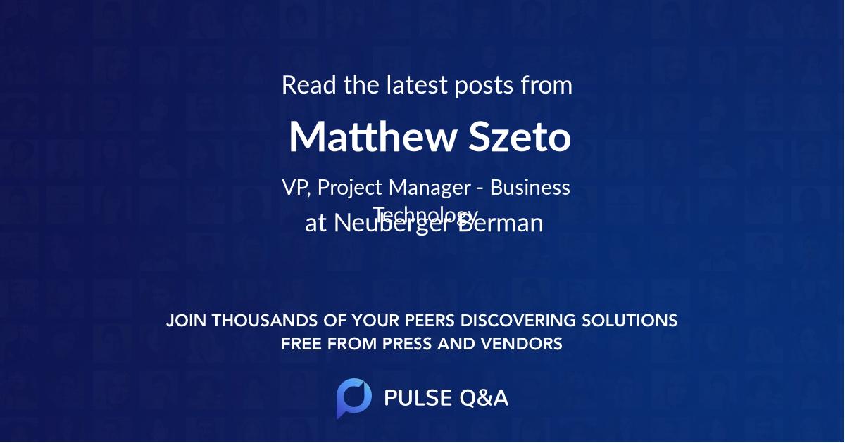 Matthew Szeto