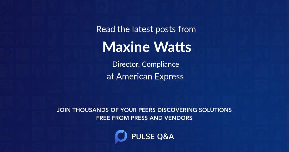 Maxine Watts