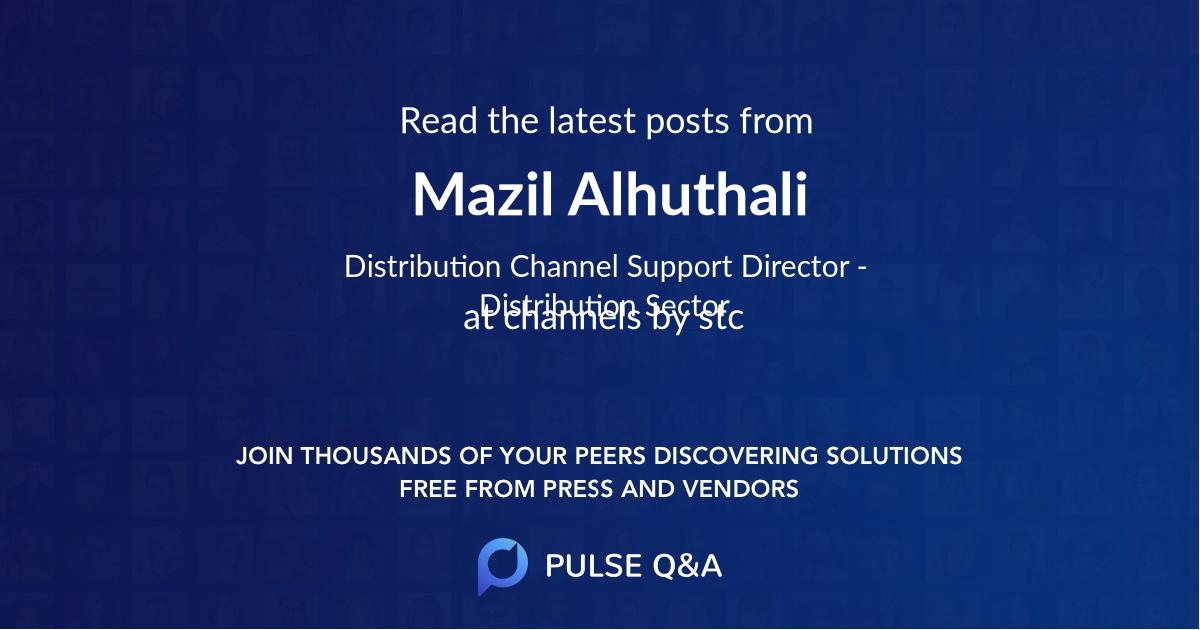 Mazil Alhuthali