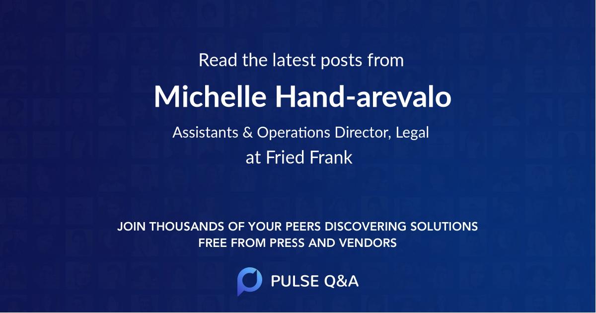 Michelle Hand-arevalo