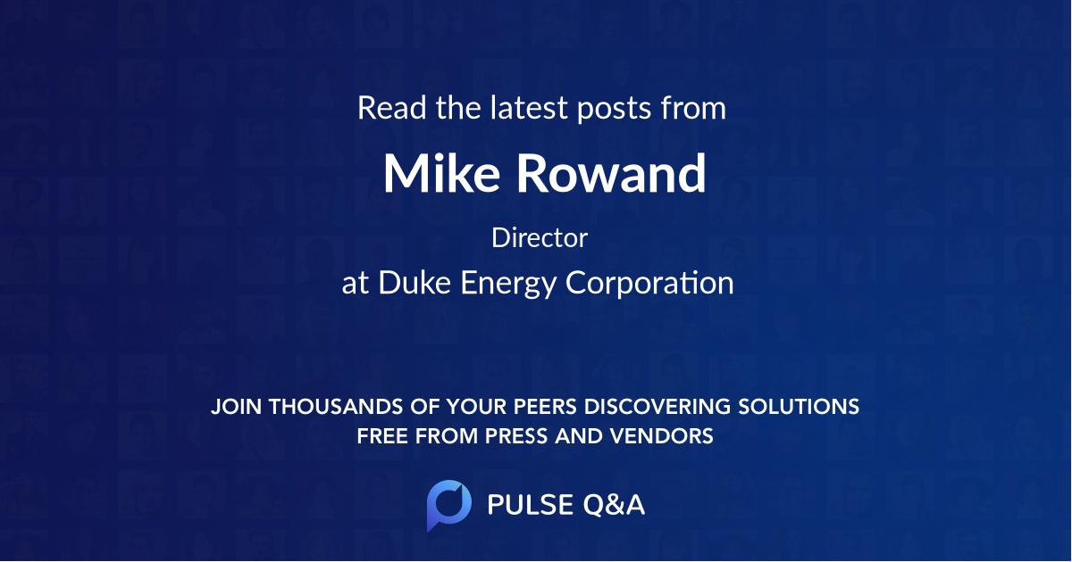 Mike Rowand