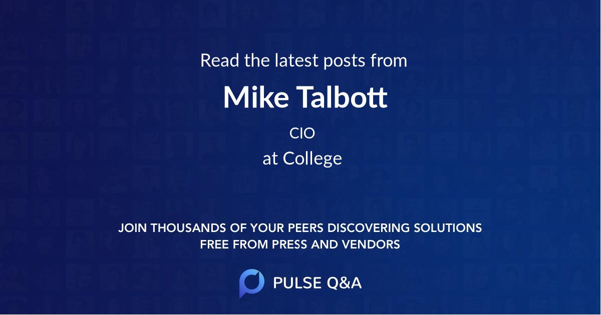 Mike Talbott