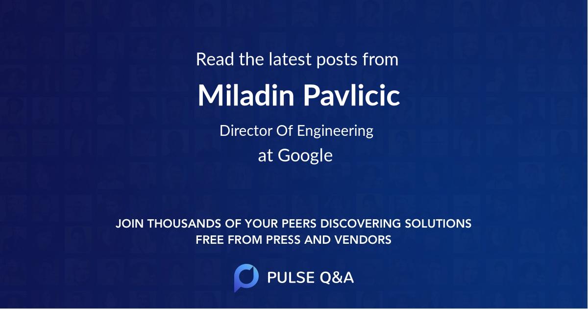 Miladin Pavlicic
