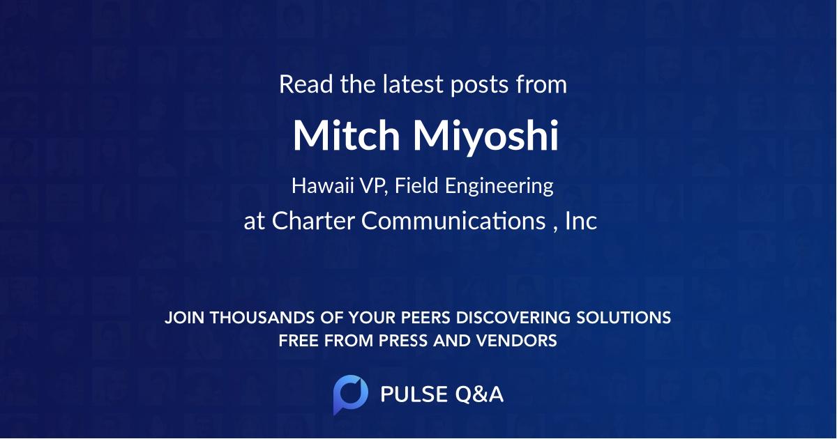 Mitch Miyoshi