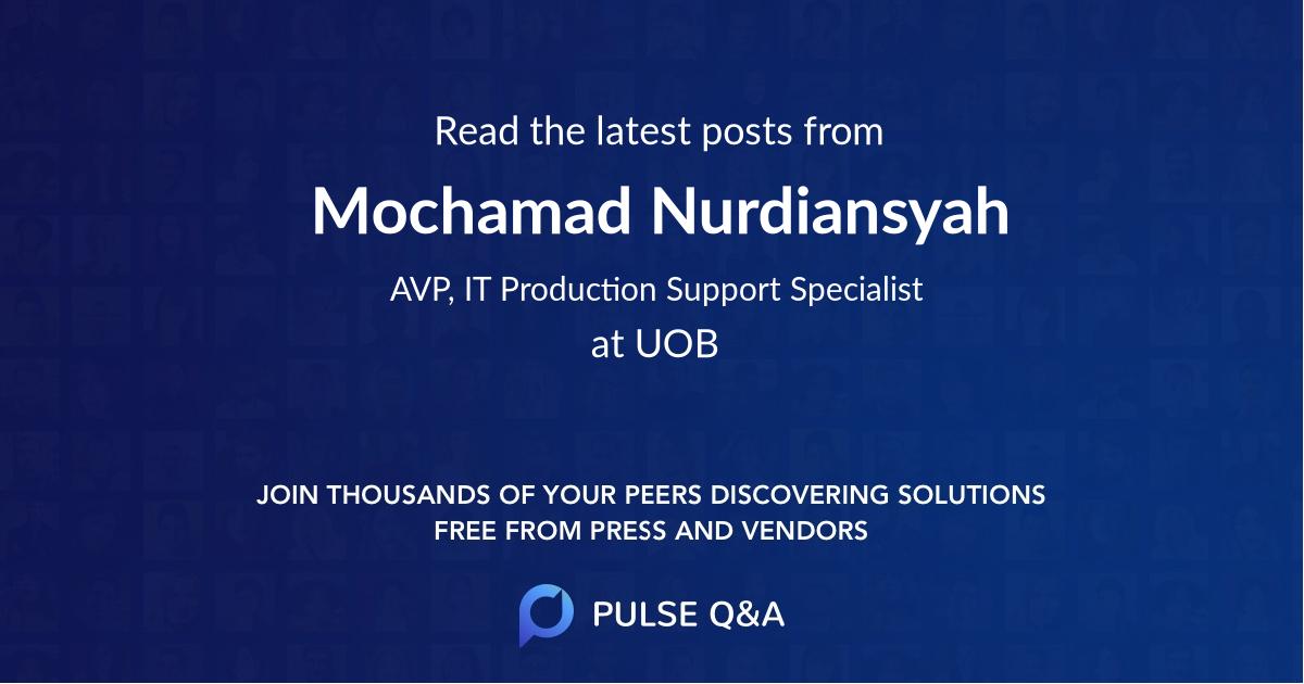 Mochamad Nurdiansyah