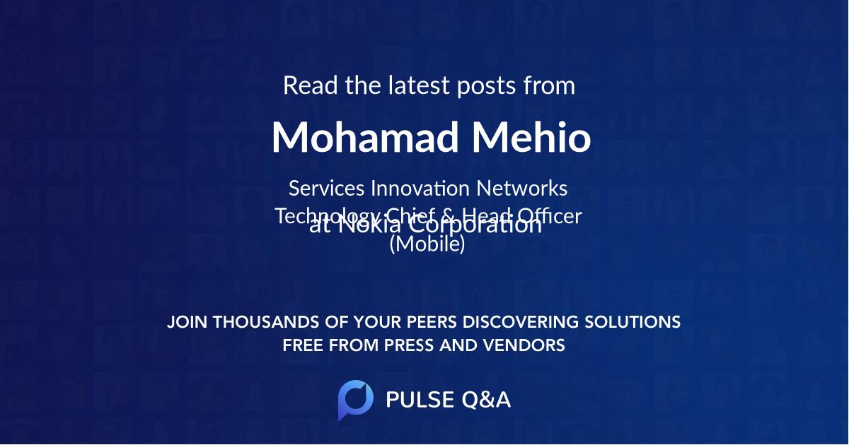 Mohamad Mehio