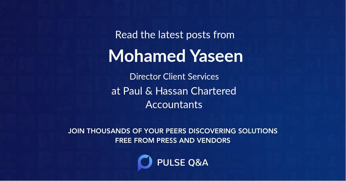 Mohamed Yaseen