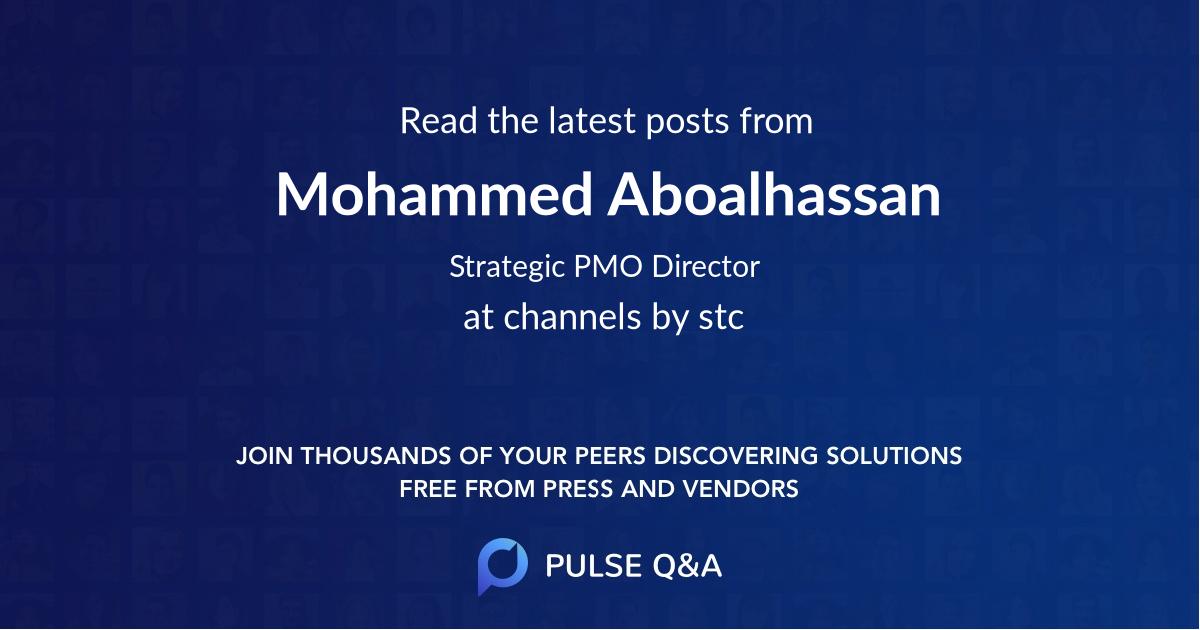 Mohammed Aboalhassan
