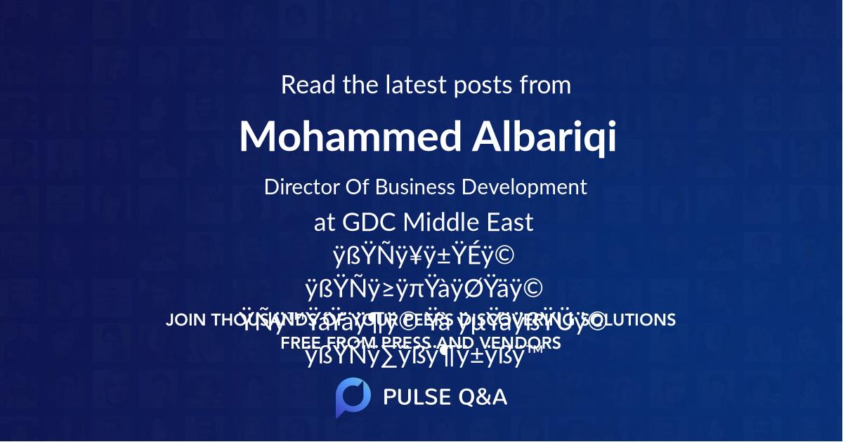 Mohammed Albariqi