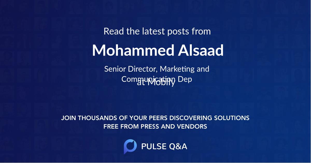 Mohammed Alsaad