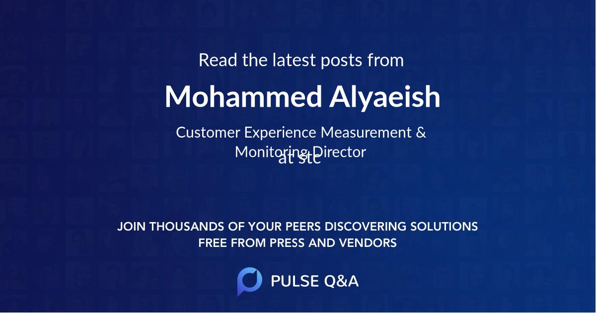 Mohammed Alyaeish