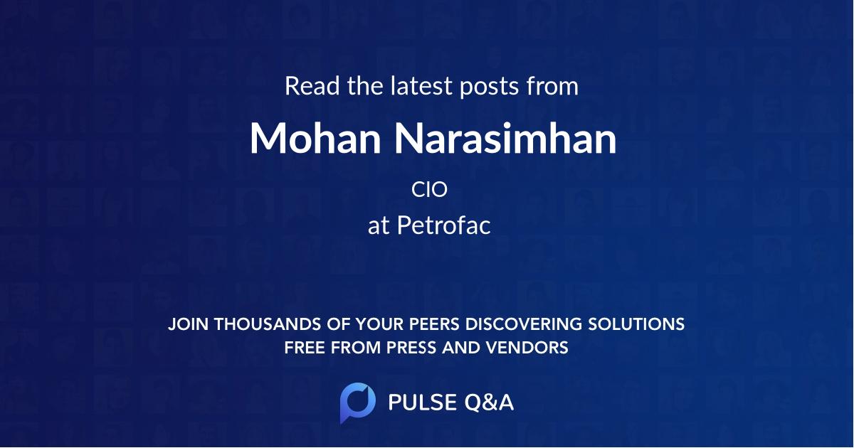 Mohan Narasimhan