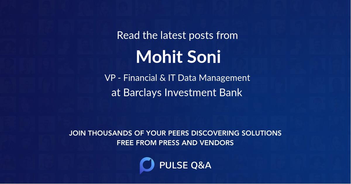Mohit Soni