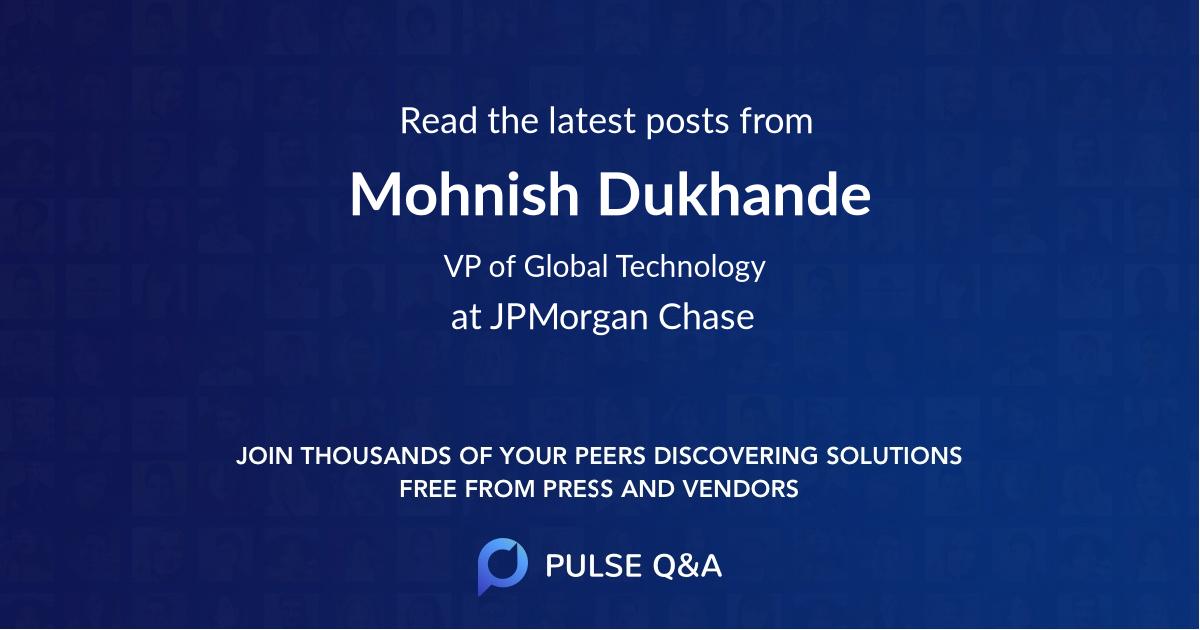 Mohnish Dukhande