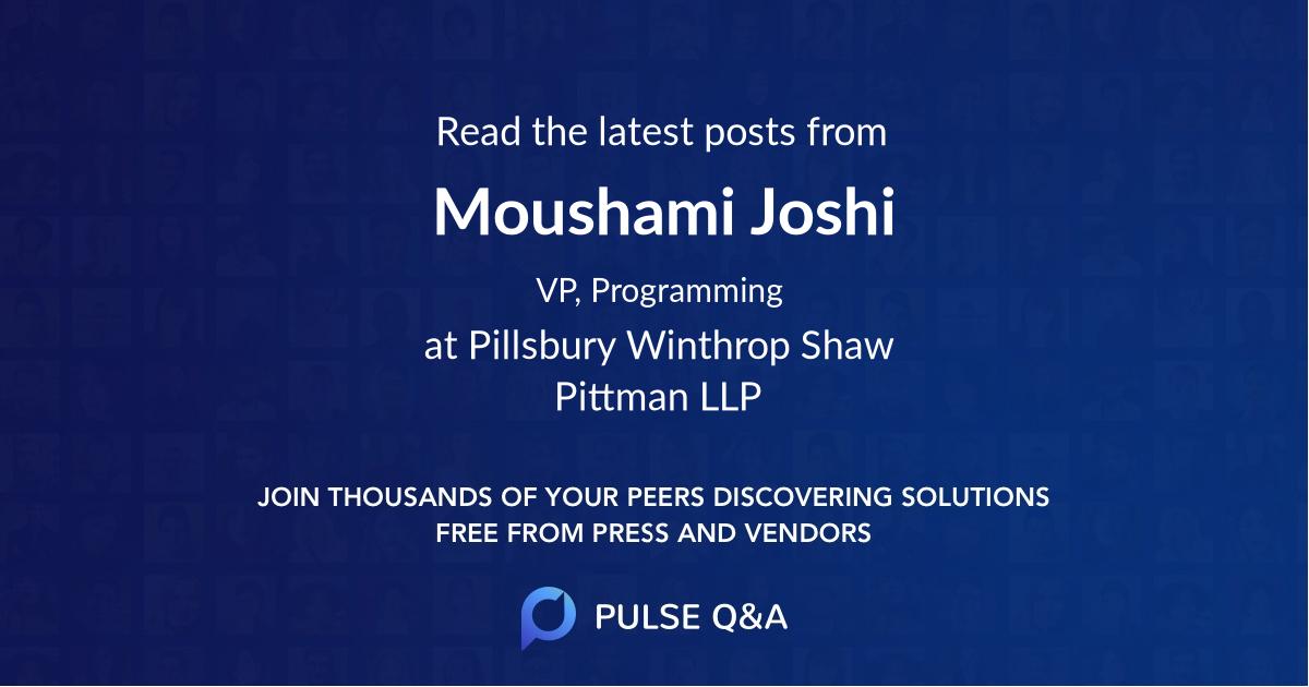 Moushami Joshi