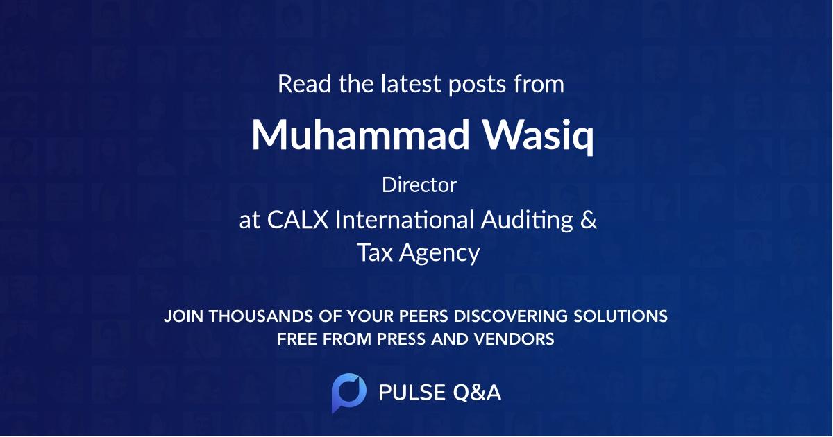 Muhammad Wasiq