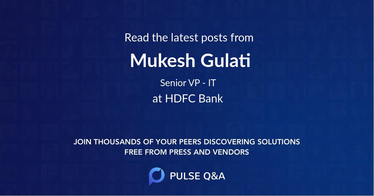 Mukesh Gulati