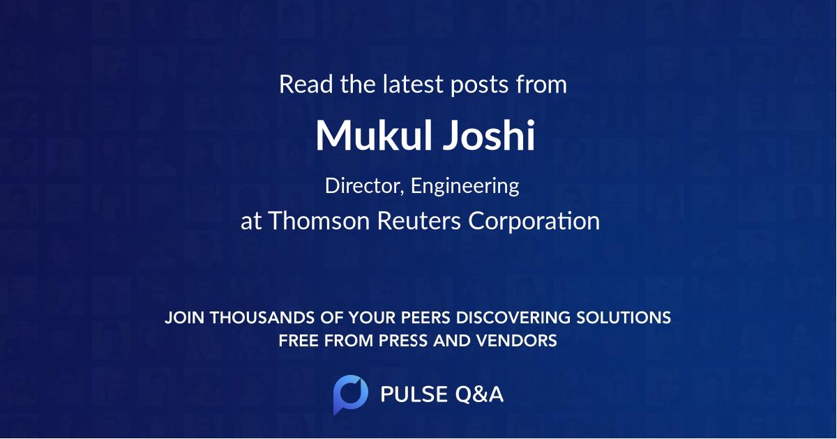 Mukul Joshi