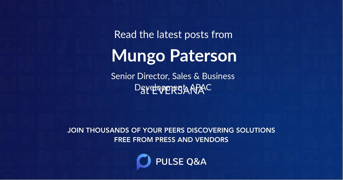 Mungo Paterson