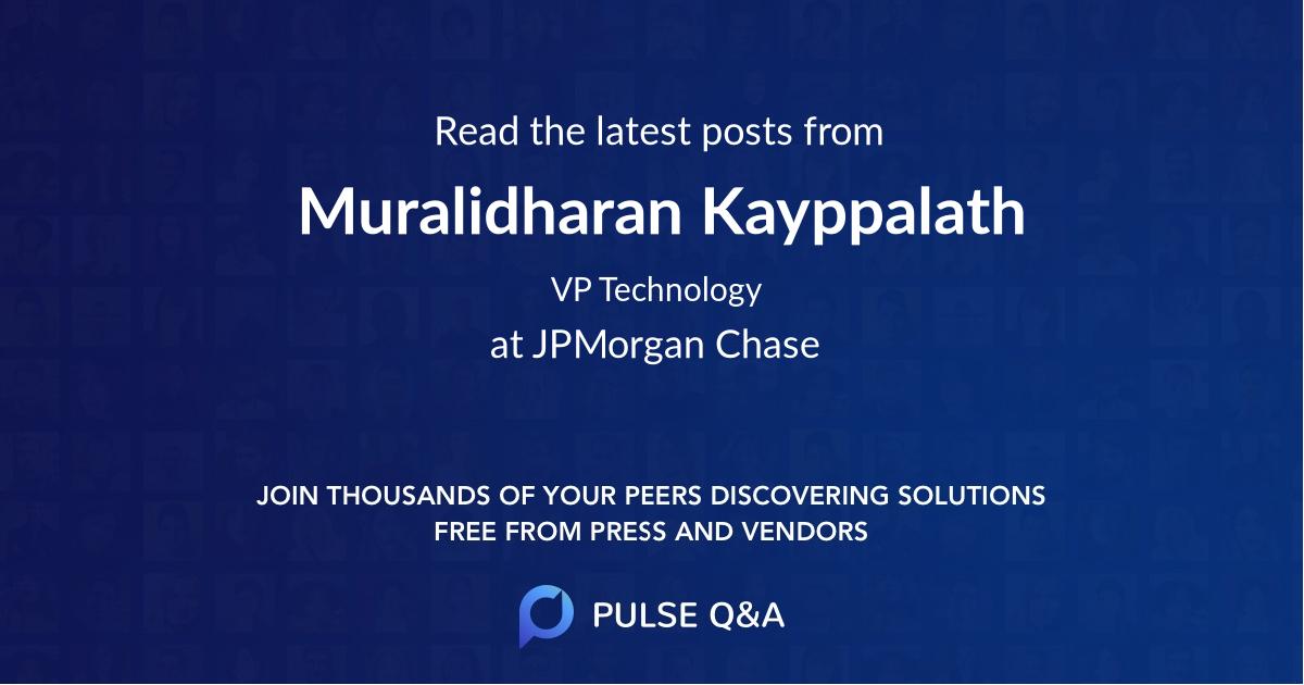 Muralidharan Kayppalath