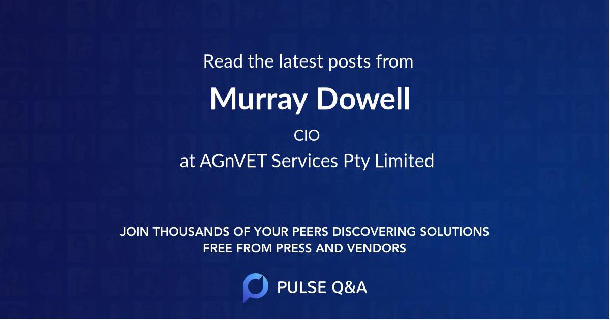 Murray Dowell