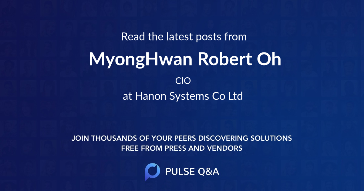 MyongHwan Robert Oh