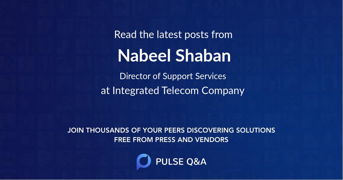 Nabeel Shaban
