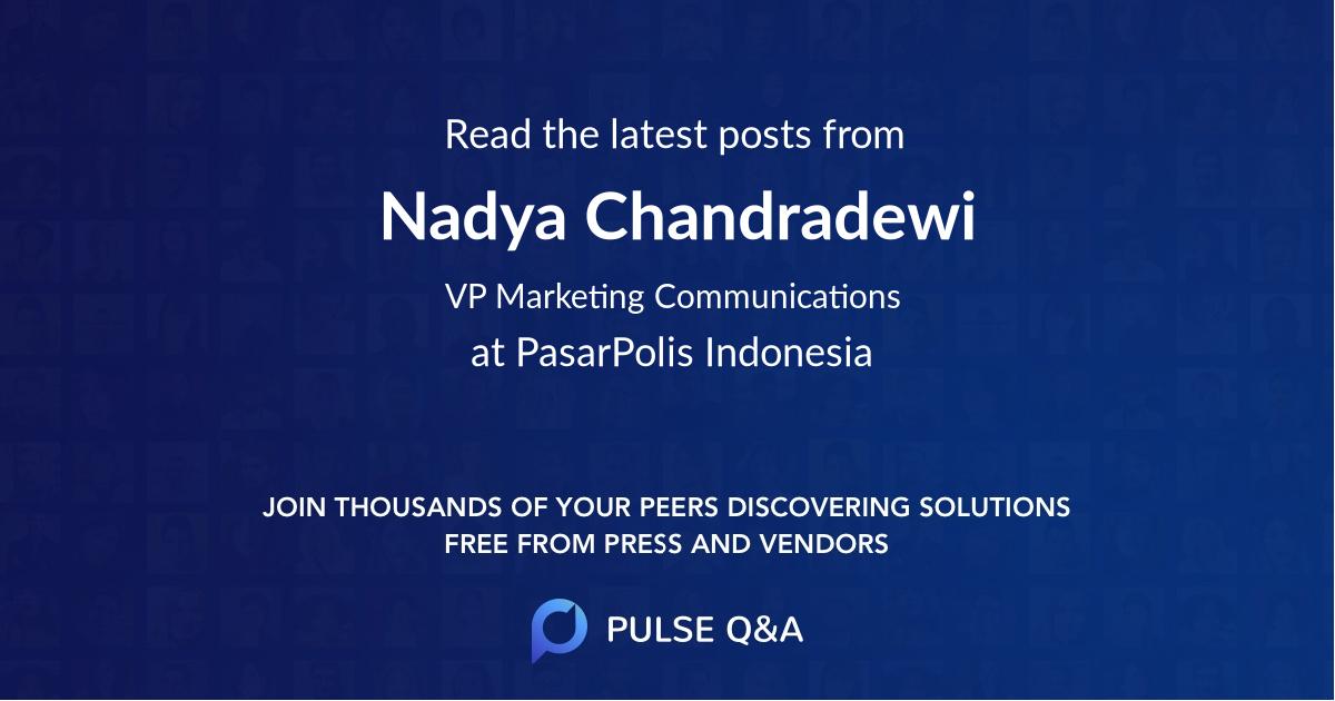 Nadya Chandradewi