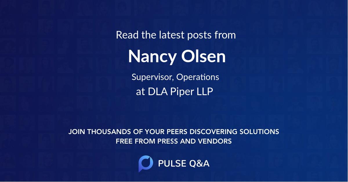 Nancy Olsen
