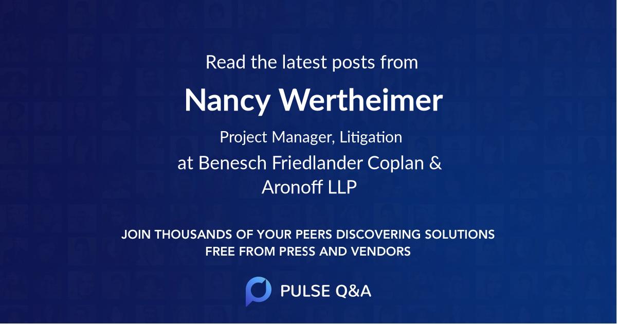 Nancy Wertheimer