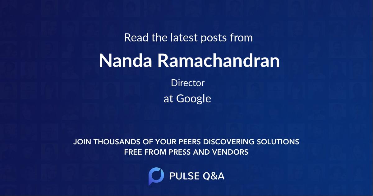 Nanda Ramachandran