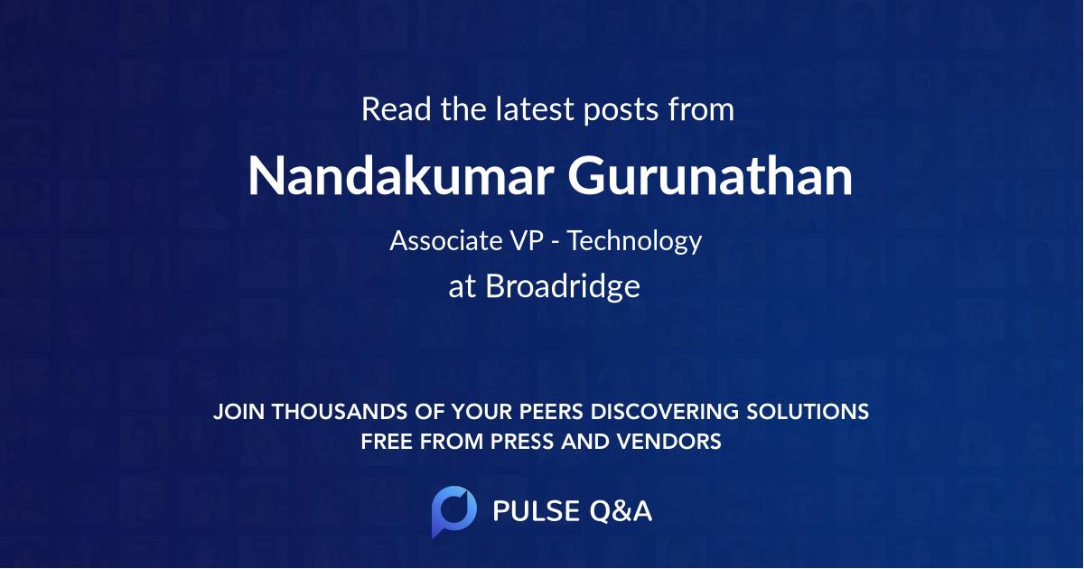 Nandakumar Gurunathan