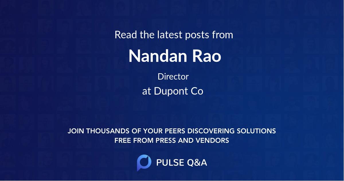 Nandan Rao