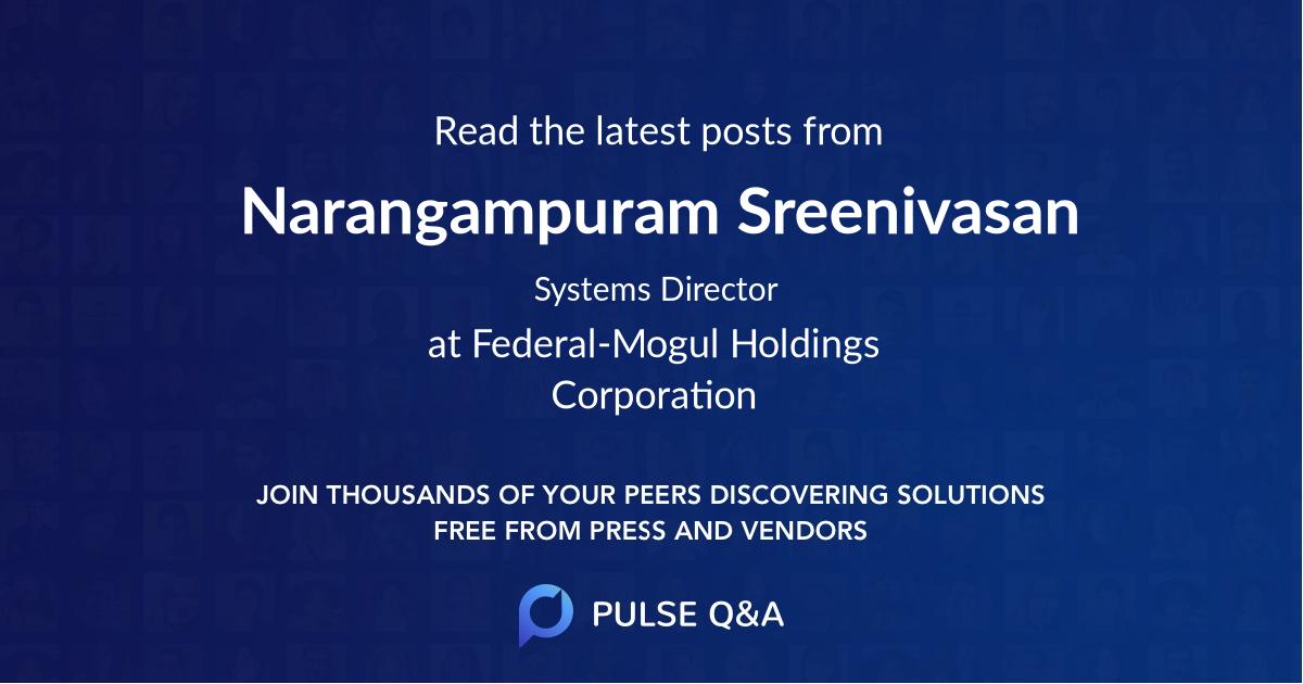 Narangampuram Sreenivasan