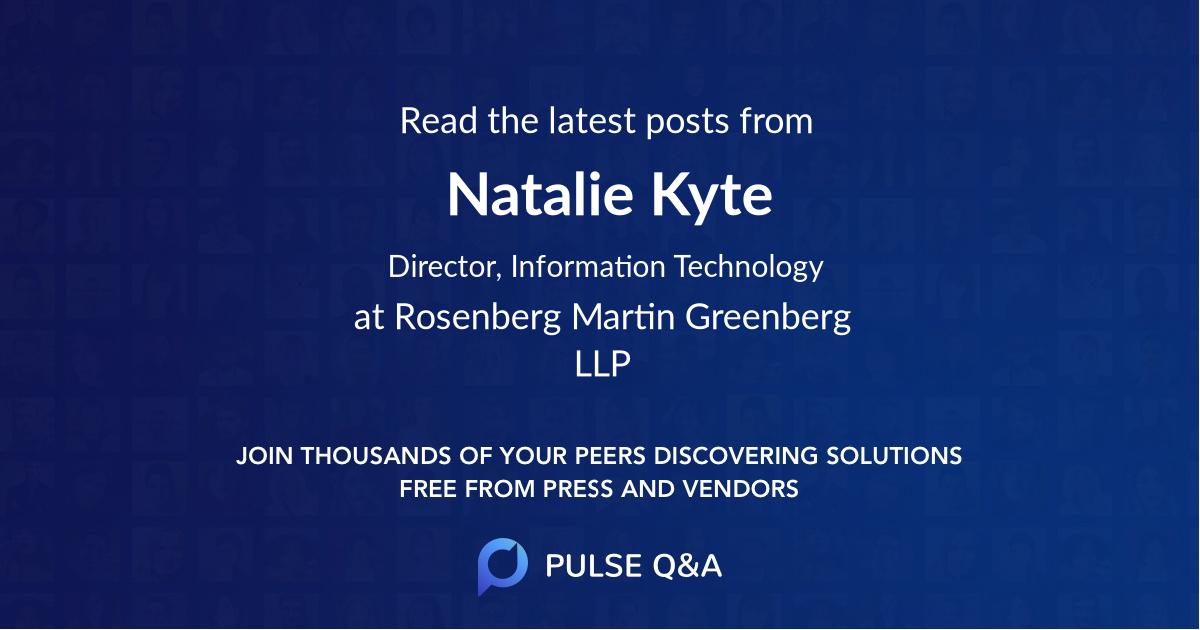 Natalie Kyte