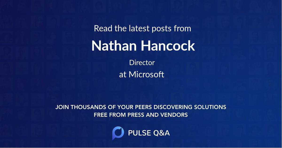Nathan Hancock