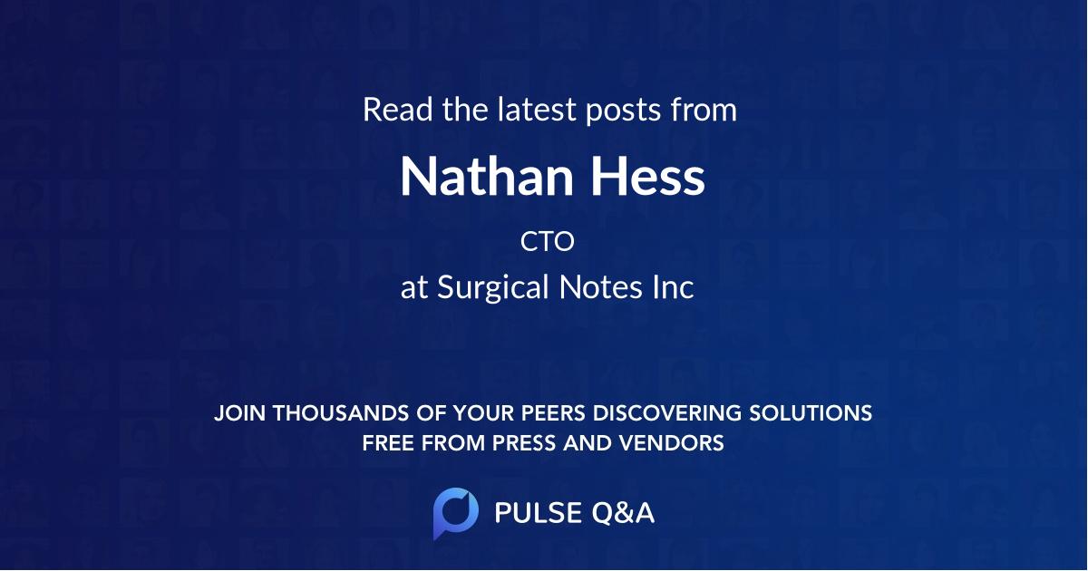 Nathan Hess