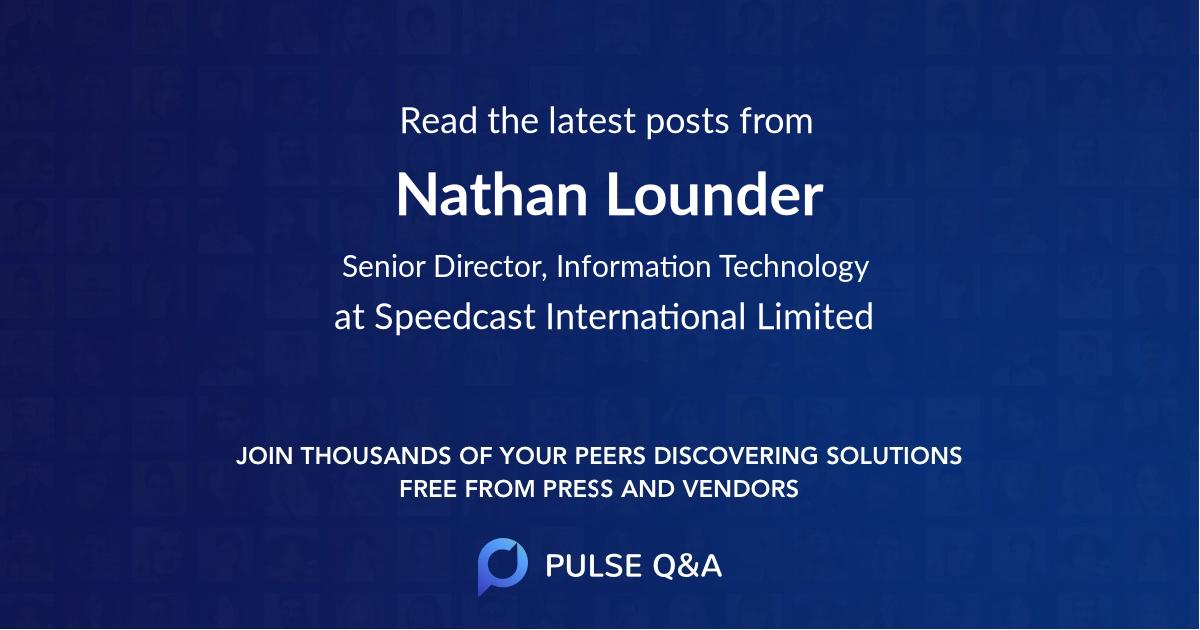 Nathan Lounder