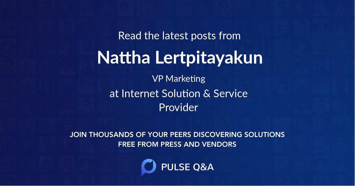 Nattha Lertpitayakun