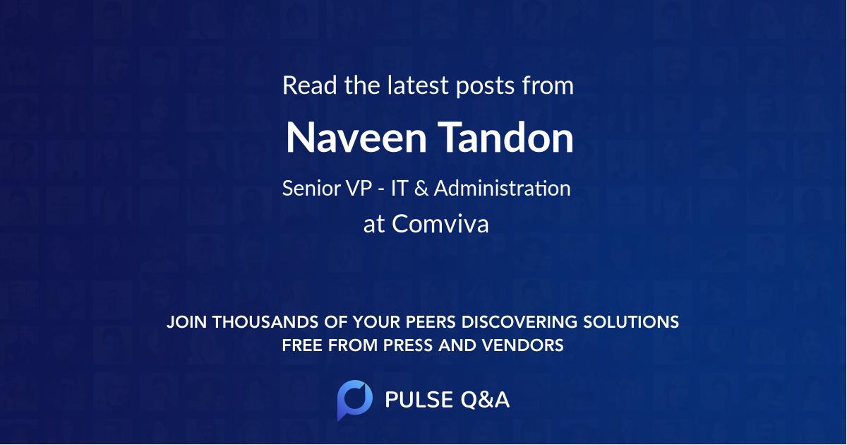 Naveen Tandon
