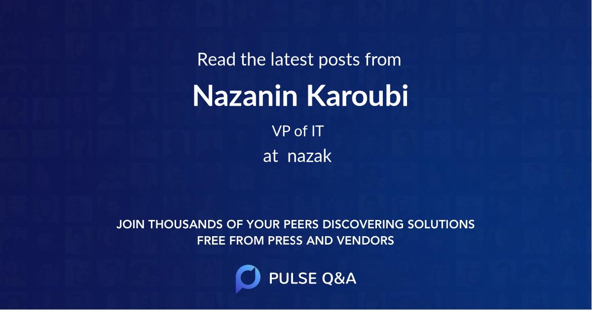 Nazanin Karoubi
