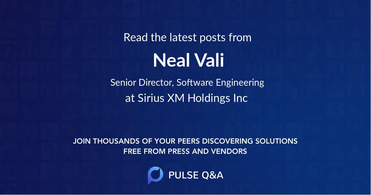 Neal Vali