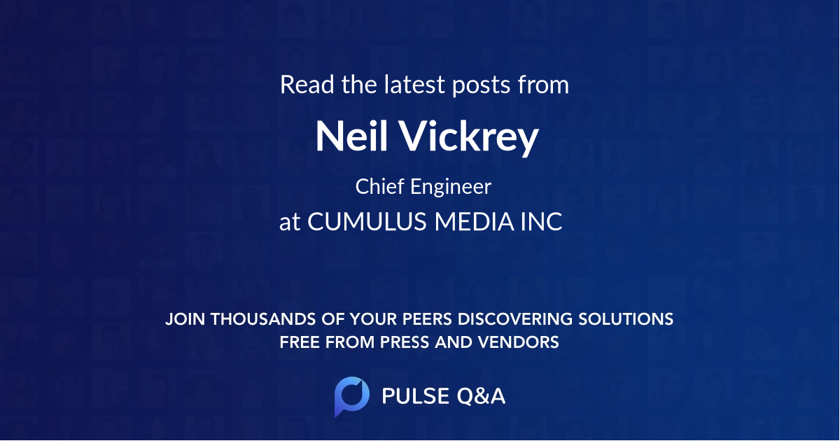 Neil Vickrey