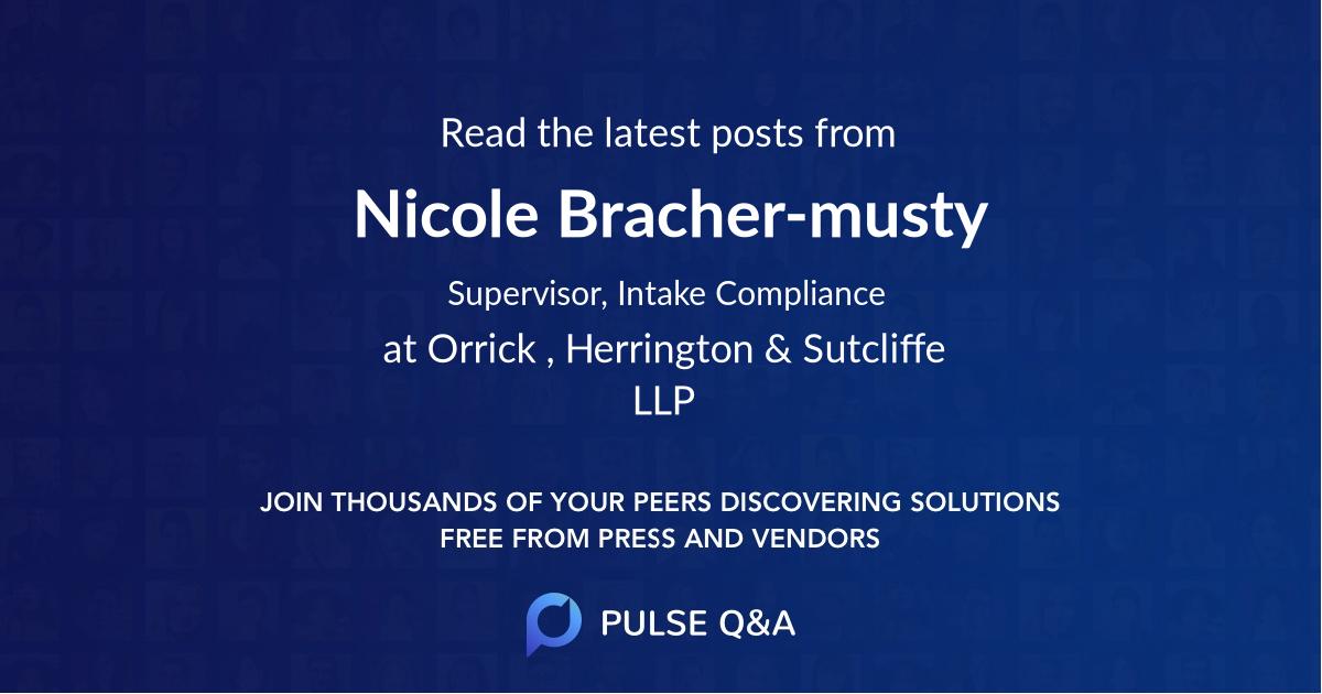 Nicole Bracher-musty