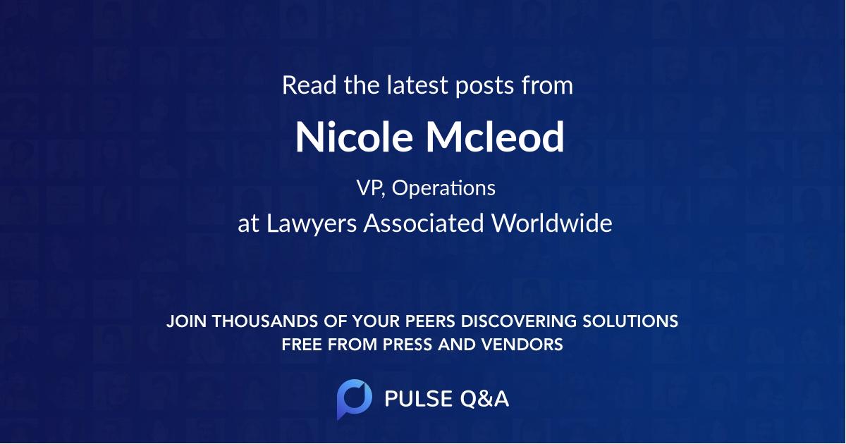 Nicole Mcleod
