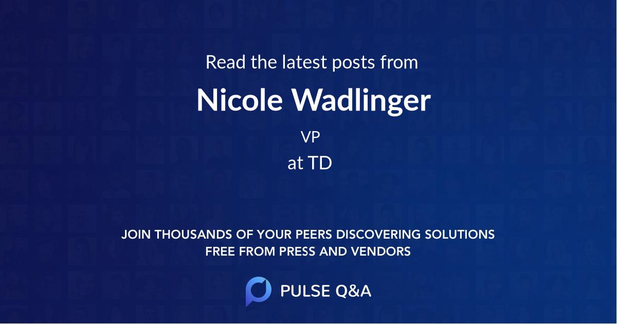 Nicole Wadlinger