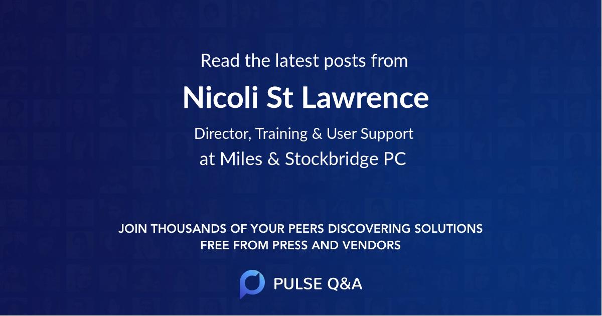 Nicoli St. Lawrence