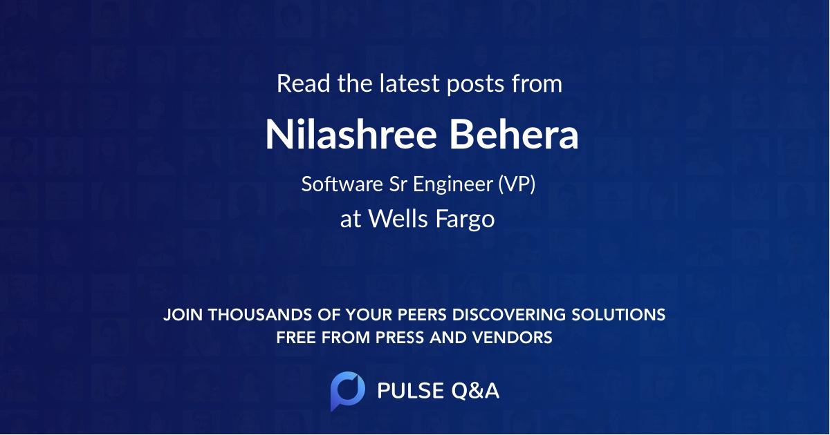 Nilashree Behera