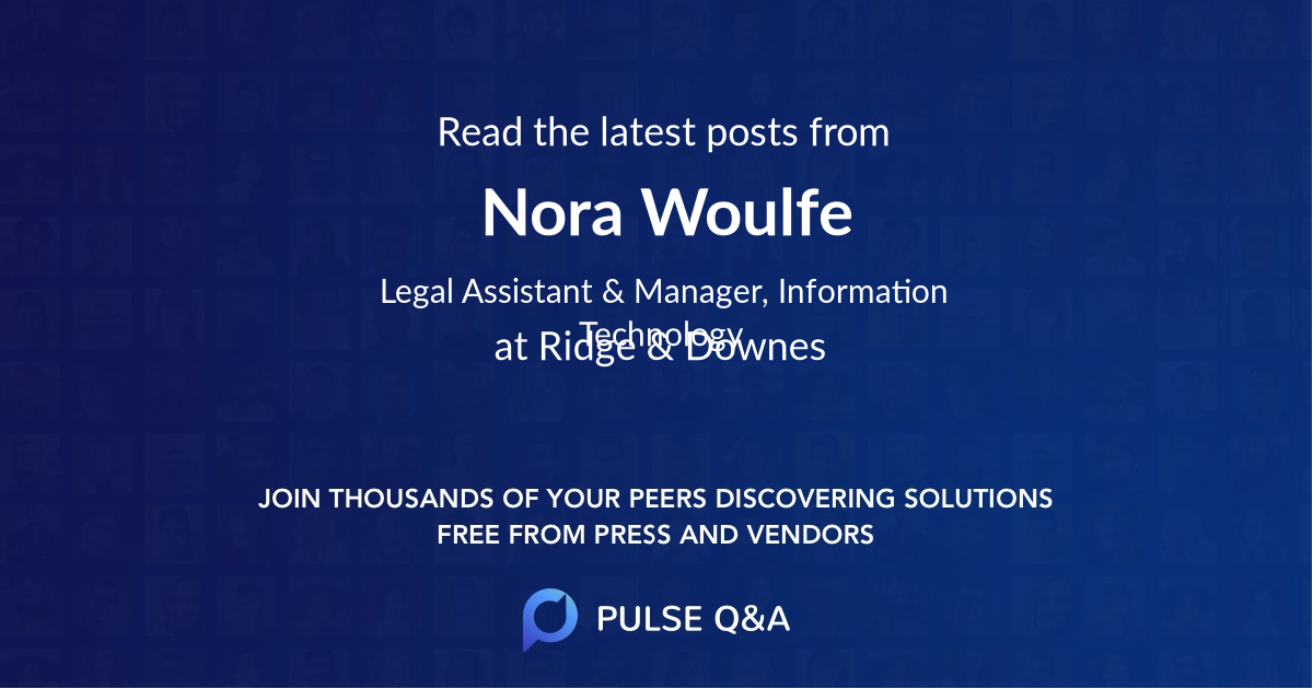 Nora Woulfe