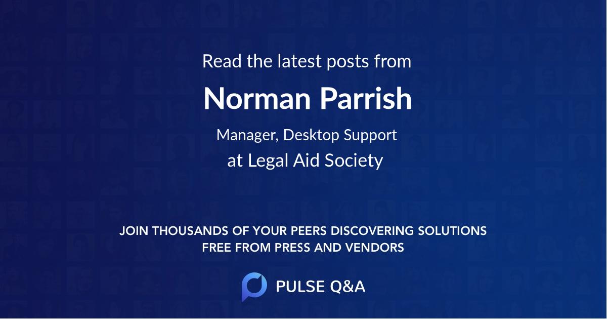 Norman Parrish